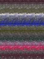 Noro #397 Grey, Pink, Blue Silk Garden Sock Yarn (1 - Super Fine)