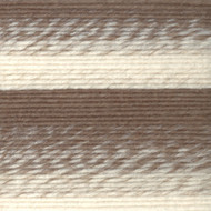 Lion Brand Cream/Taupe Scarfie Yarn (5 - Bulky)