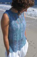 Ilga Leja Handknit Design Waves Of Lace Shirt Pattern
