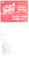 """Susan Bates 30-Pack 0.5"""" (12.75 mm) Plastic Bone Rings"""