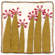 "Wool & Hoop Birthday Wish Crewel Embroidery Kits (3"" X 3"")"