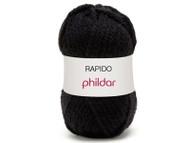 Phildar #67 Noir Rapido Yarn (6 - Super Bulky)