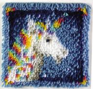 """WonderArt Unicorn 12"""" x 12"""" Latch Hook Kit"""