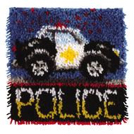 "WonderArt Police Car 12"" x 12"" Latch Hook Kit"