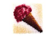 """WonderArt Ice Cream 12"""" x 12"""" Latch Hook Kit"""