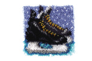 "WonderArt Hockey Skates 12"" x 12"" Latch Hook Kit"