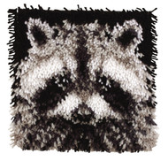 "WonderArt Raccoon 12"" x 12"" Latch Hook Kit"