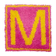 """WonderArt Monogram - Pink 12"""" x 12"""" Latch Hook Kit"""