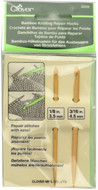 Clover Tools 2-Pack Bamboo Knitting Repair Hooks