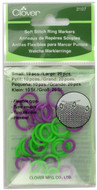 Clover Tools 30-Pack Soft Stitch Ring Markers