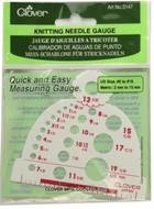 Clover Tools Knitting Needle Gauge
