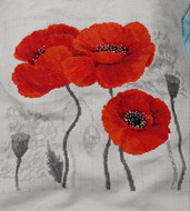 Riolis Cross Stitch Scarlet Poppies Cross Stitch Kit