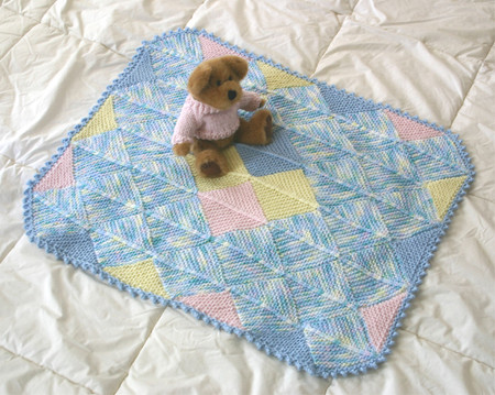 Knitting at KNoon Nursery Blocks, Modular Baby Blanket Knitting Pattern