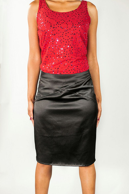 Jacey Pencil Skirt {Black}