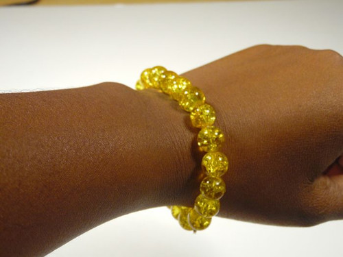 Bead Bracelet {yellow}