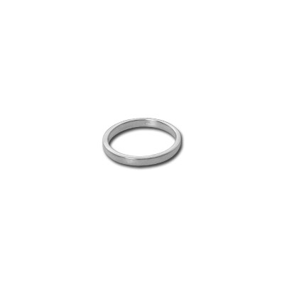 2 mm Silver Band Ring Nickel and Suede