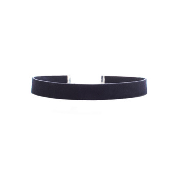 Midnight Blue Suede Leather Choker