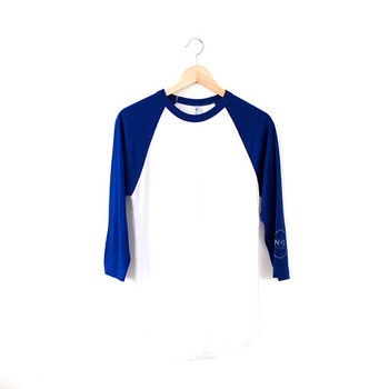 N&S Blue Baseball Tee Nickel and Suede