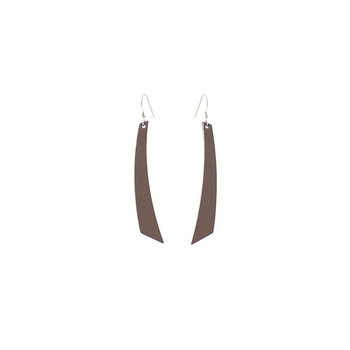 Stone Accent Leather Earrings