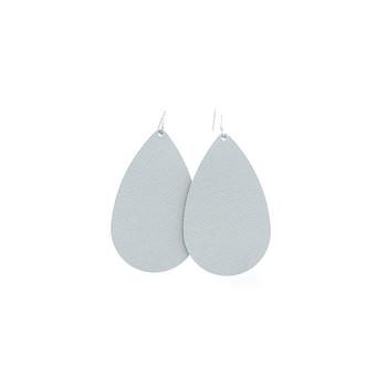 Sterling Leather Earrings