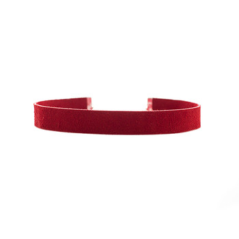 Scarlet Suede Leather Choker