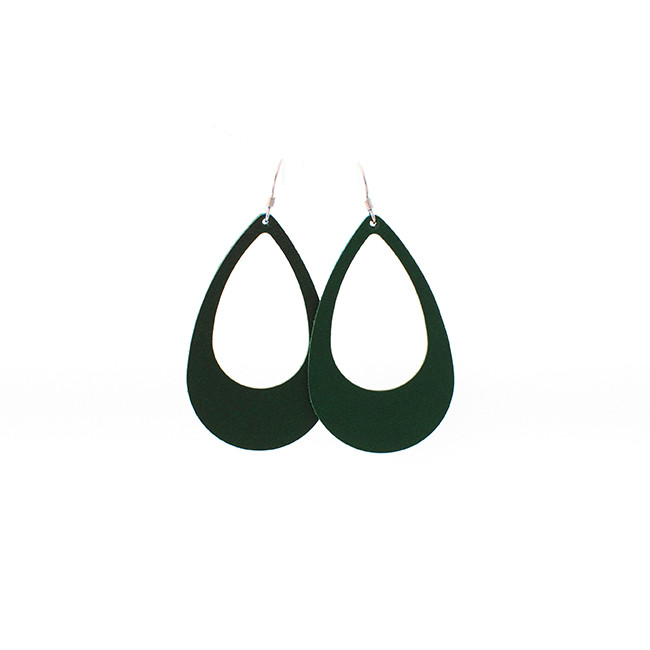 N&S Select Green Leather Earrings