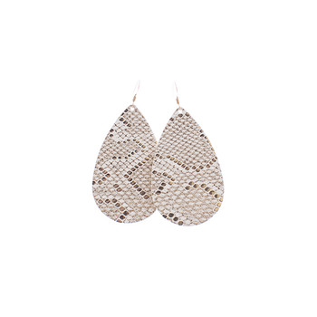 Creme de la Creme Leather Earrings