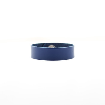 N&S Select Blue Thin Leather Cuff Nickel and Suede