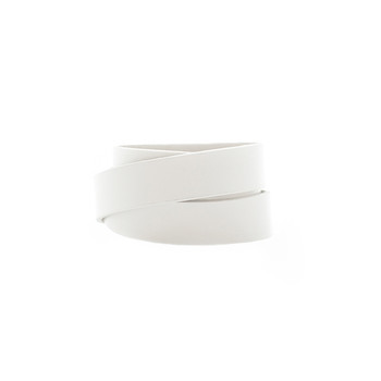 Select White Wrap Leather Cuff