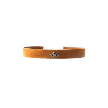 Desert Camel Suede Choker Nickel and Suede