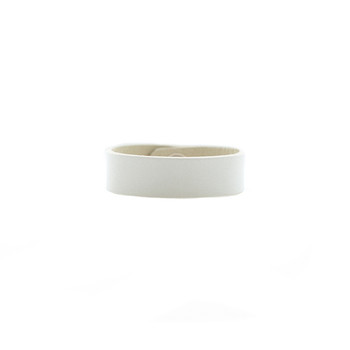 N&S Select White Thin Leather Cuff Nickel and Suede