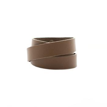 Stone Wrap Leather Cuff
