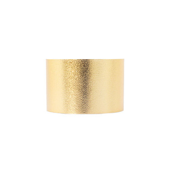 N&S Signature Gold Wide Leather Cuff