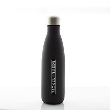 N&S Textured Matte Black Water Bottle