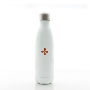 N&S Glossy White Water Bottle