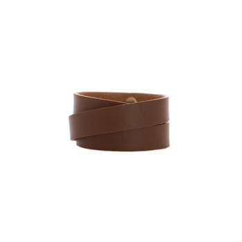 Brown Wrap Leather Cuff