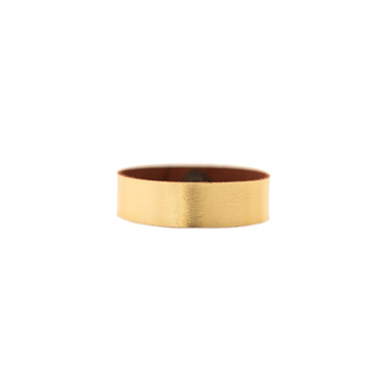 N&S Signature Gold Thin Cuff Nickel and Suede