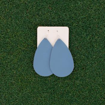 TEAM Sky Blue Nickel and Suede Leather Earrings