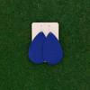 TEAM Blue Nickel and Suede Leather Earrings