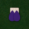 TEAM Purple Nickel and Suede Leather Earrings