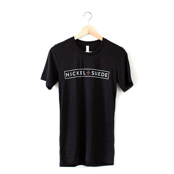 Unisex/Men's N&S Heather Black Vintage Tee