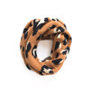 Leopard Sweater Scarf Nickel and Suede