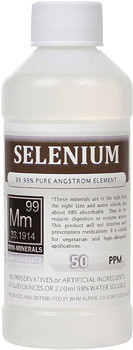 Selenium comes in 8, 16 and 128 ounce bottles.