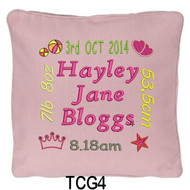 girl's personalised Pink cushion cover will last for ages