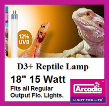 Arcadia | T8 | D3 | Plus | Reptile | Lamp | 18 | Inch | Fits | All | 18 | Inch | Regular | Fluorescent |  Fixtures