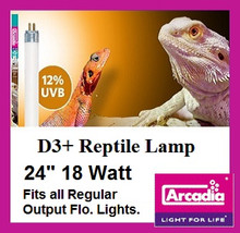 Arcadia | T8 | D3 | Plus | Reptile | Lamp | 24 | Inch | Fits | All | 24 | Inch | Regular | Fluorescent |  Fixtures