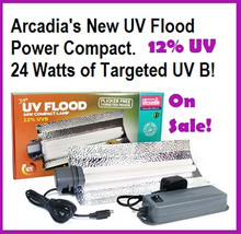 Arcadia | Power | Compact | 24 | Watt | 12% | UV | Flood | Light | Kit | With | Up | Converter