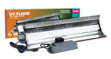 JUMBO Arcadia Power Compact 55 Watt 12 UV Flood Light Kit WITH