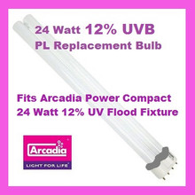 24 Watt 12% PL Bulb for Arcadia UVB Flood