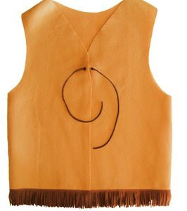 Tan Adventure Guide YMCA Vest with Fringe and Tie